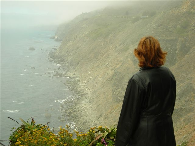 Carol Takes in the Big Sur.JPG