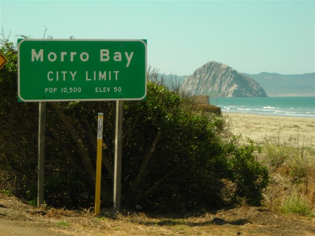 Journey's End--Morro Bay City Limit with Morro Rock in the Background.JPG